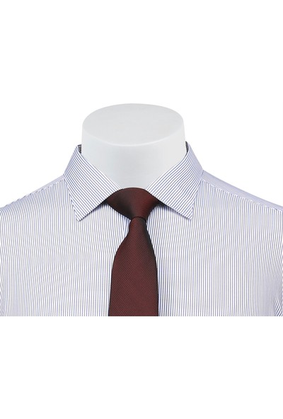 Buenza Sry Platin P_27 Klasik Kesim Uzun Kol Gömlek - Kahverengi