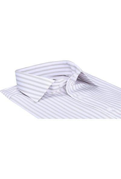 Buenza Sry Platin P_3 Klasik Kesim Uzun Kol Gömlek - Kahverengi
