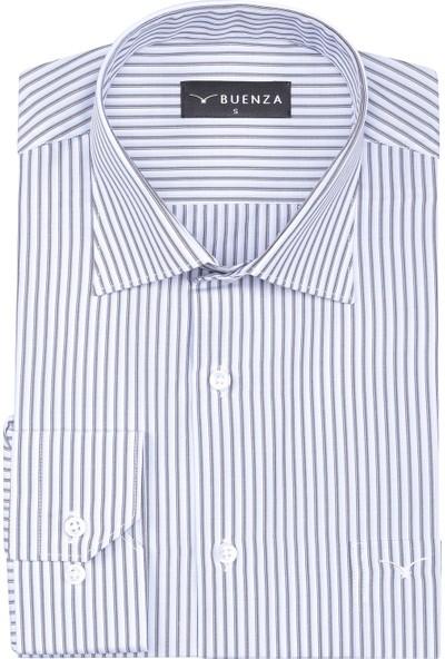 Buenza Sy Plt 57 Klasik Kesim Uzun Kol Gömlek - Kahverengi