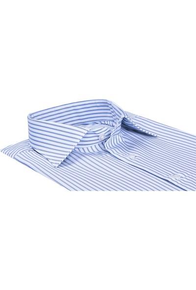 Buenza Sy Plt 57 Klasik Kesim Uzun Kol Gömlek - Mavi