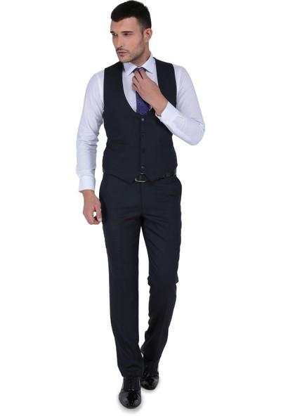 Buenza Tesla Yelekli Slim Fit Takım Elbise-Kahverengi