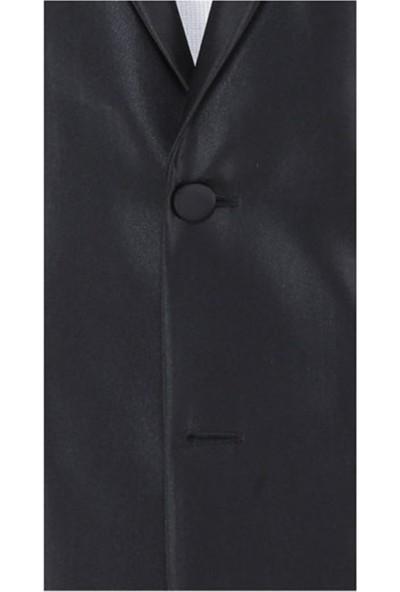 Buenza Trkn Mono Tk Yrt Dar Kalıp Smokin Takım Elbise - Siyah