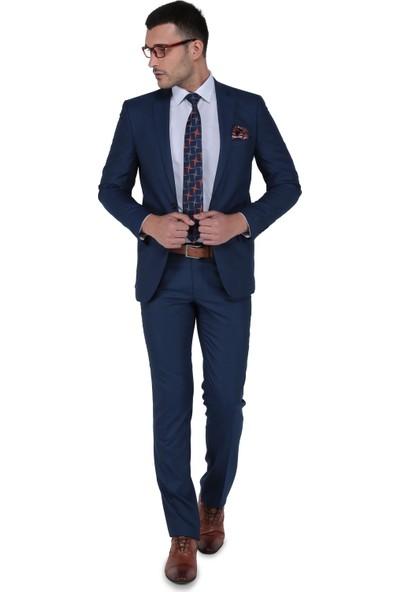 Buenza Franke Slim Fit Mono Tk Yrt Takım Elbise - Mavi
