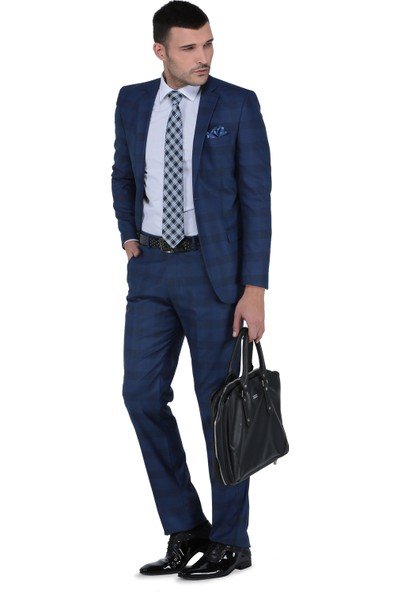 Buenza Torres Slim Fit Mono Tk Yrt Takım Elbise - Parlament