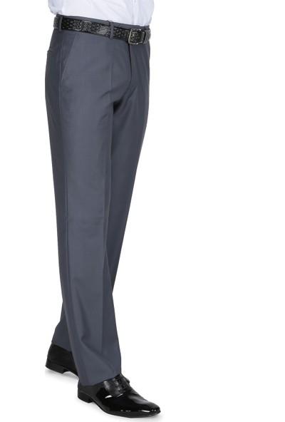 Buenza Klasik Kesim Pilesiz Kumaş Pantolon - Koyu Gri