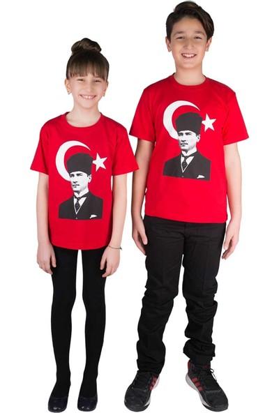 Modakids Atatürk Bayrak Baskılı Tshirt 019-1935-002