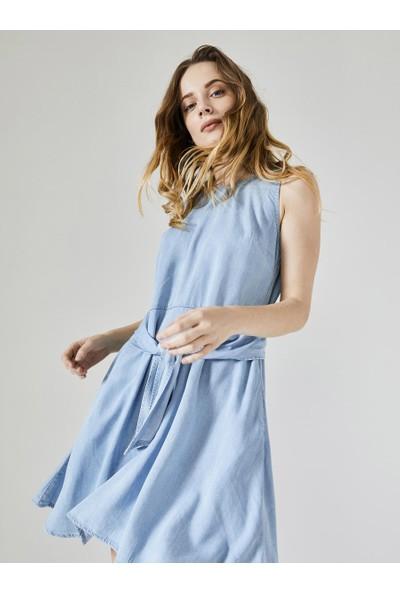 Xint Yuvarlak Yaka Elbise