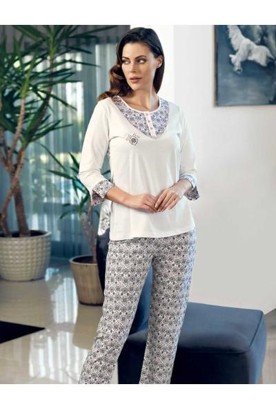 Şahinler Düğmeli Kadın Pijama Takımı MBP24114-1