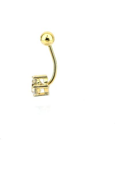 Kuyumcunuz Altın Göbek Piercing (14 Ayar)