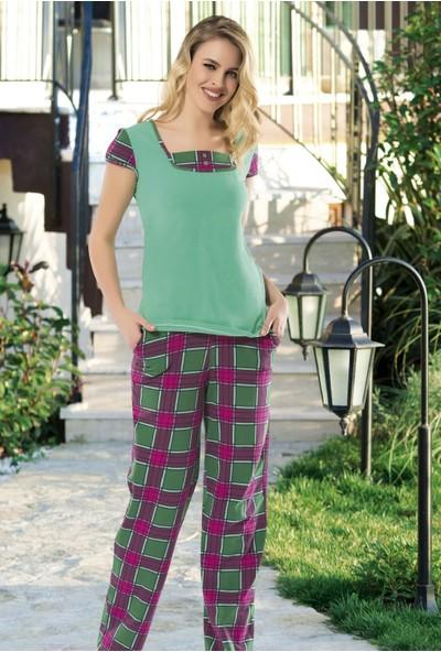 Angel's Story 53965 Kadın Kısa Kollu Pijama Takımı