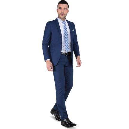 7a8d180d0ecc1 Buenza 6 Drop Dar Kalıp Slim Fit Erkek Takım Elbise - Mavi Fiyatı