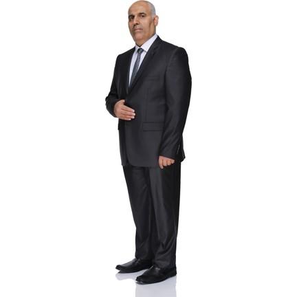 da74cc1c32e7e Buenza 120S Büyük Beden Erkek Takım Elbise-Füme Fiyatı