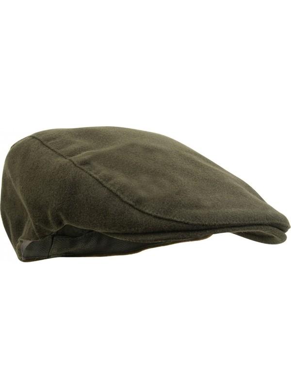 Modamarka Shop Erkek Şapka Kışlık Flat Cap Yün Kasket Haki