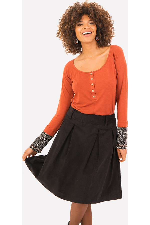 Clandestino Solid Women's Skirt
