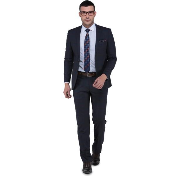 f79fbb776f810 Buenza Torres Slim Fit Mono Tk Yrt Takım Elbise - Kahverengi - 46 - 6 Drop