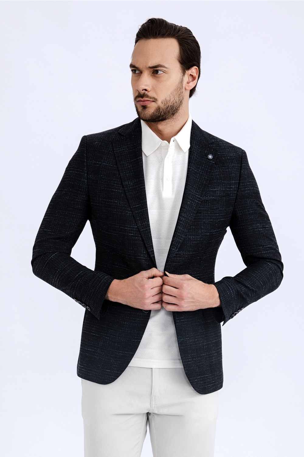 Kigili Men's Patterned Blazer