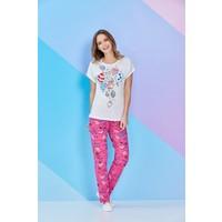 RolyPoly Kısa Kollu Kadın Pijama Takımı Krem