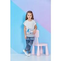 RolyPoly Kısa Kollu Kız Çocuk Pijama Takımı Krem