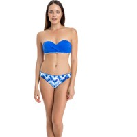 Dagi Kadın Straplez Kaplı Bikini Takımı Saks