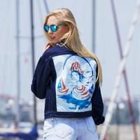 Biggdesign AnemosS Denizci Kız Kot Ceket