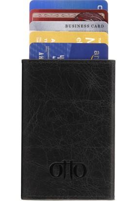 Otto Ot117 Hakiki Deri Mekanik Kartlık Cüzdan