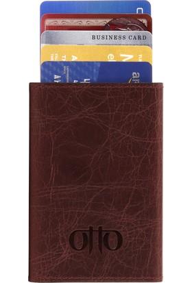 Otto Ot120 Hakiki Deri Mekanik Kartlık Cüzdan