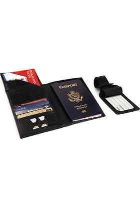 Otto Ot142 Hakiki Deri Pasaport Ve Seyahat Cüzdanı Rfıd Korumalı Uçak Bileti Kredi Kartı Ve Sim Kart Bölmeli