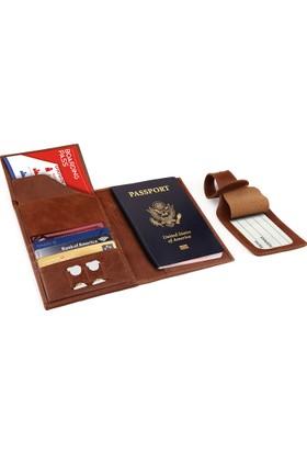 Otto Ot143 Hakiki Deri Pasaport Ve Seyahat Cüzdanı Rfıd Korumalı Uçak Bileti Kredi Kartı Ve Sim Kart Bölmeli