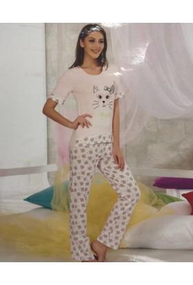 Sevim Baskılı Kadın Pijama Takımı 10675