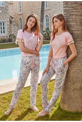 Feyza 3261 Kadın Kısa Kol Pijama Takımı