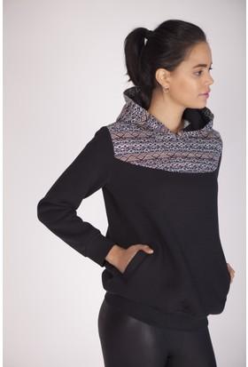 Cream&Rouge 16L136 Kilim Desenli Sweatshirt