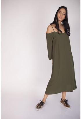 Cream&Rouge 16K533 Krinkıl Elbise