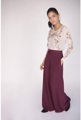 Cream&Rouge 17Y141 Prada Kumaş Pantolon