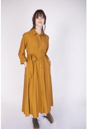 Cream&Rouge 17Y269 Uzun Gömlek Elbise
