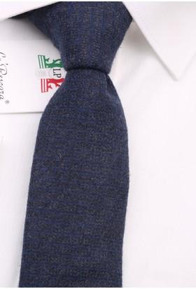La Pescara Gri - Mavi Yün Slim Kravat 6322