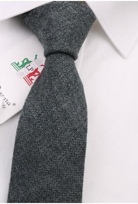 La Pescara Gri Yün Slim Kravat 6361