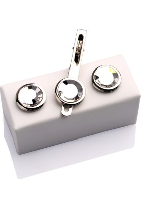 La Pescara Kol Düğmesi Ve Kravat İğnesi Set Kd334