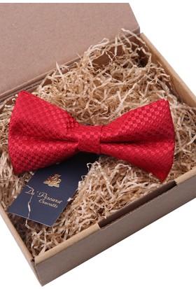 La Pescara Küçük Desen Kırmızı Papyon P535