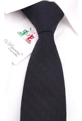 La Pescara Siyah - Kahve Yün Slim Kravat 6208