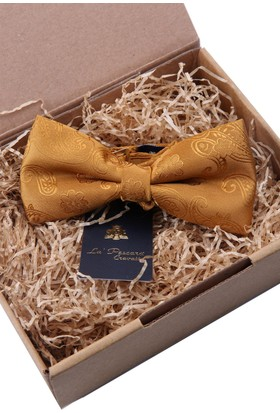 La Pescara Şal Desen Altın Sarısı Papyon P504