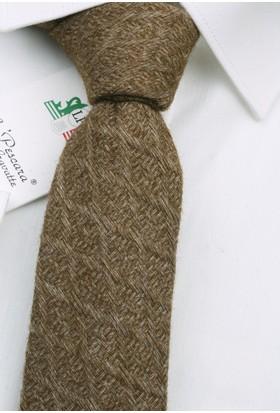 La Pescara Yeşil Yün Slim Kravat 6331