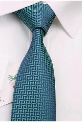 La Pescara Yeşil Nokta Desen Slim Kravat 6507