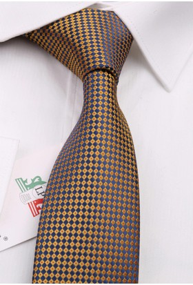La Pescara Sarı Nokta Desen Slim Kravat 6510