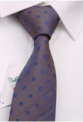 La Pescara Sarı Motif Desen Slim Kravat 6533