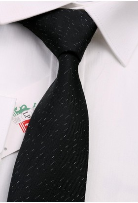 La Pescara Siyah Nokta Desen Slim Kravat 6586