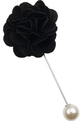 La Pescara Siyah Özel Tasarım Yaka Çiçeği Yc167