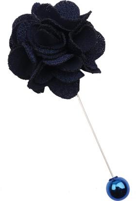 La Pescara Lacivert Özel Tasarım Yaka Çiçeği Yc169
