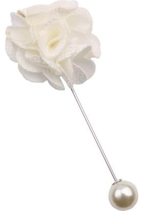 La Pescara Beyaz Özel Tasarım Yaka Çiçeği Yc170