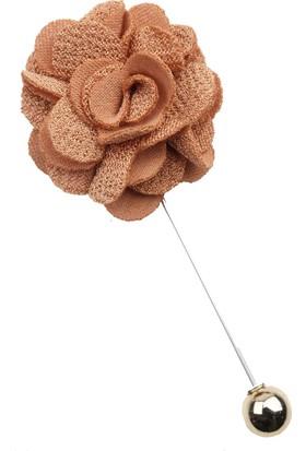La Pescara Bej Özel Tasarım Yaka Çiçeği Yc172
