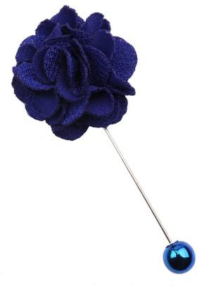 La Pescara Saks Mavi Özel Tasarım Yaka Çiçeği Yc175